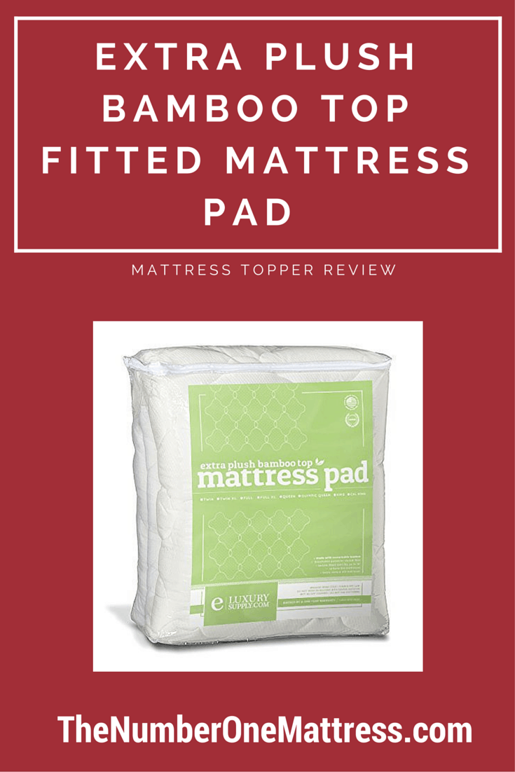 Extra Plush Bamboo Top Fitted Mattress Pad